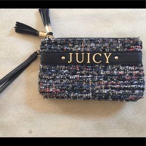 Juicy couture wristlet in tweed